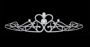 diamanter krönar tiaran royaltyfri illustrationer