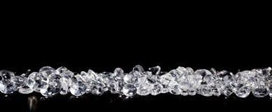 Diamanter på svart bakgrund Arkivbilder