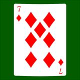 diamanter sju Kortdräktsymbol som spelar kortsymboler vektor illustrationer