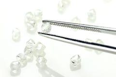 Diamantes ásperos 06 Imágenes de archivo libres de regalías