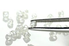 Diamantes ásperos 08 foto de archivo libre de regalías