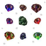 Diamantes artificiales en un fondo blanco libre illustration