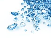 Diamantes azuis Imagem de Stock Royalty Free