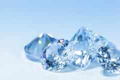 Diamantes azuis Fotos de Stock Royalty Free