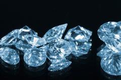 Diamantes azuis Imagens de Stock
