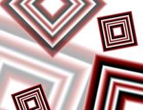 Diamantes blancos y negros rojos Imagen de archivo