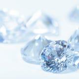 Diamantes brancos Foto de Stock Royalty Free