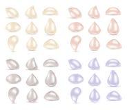 Diamantes coloreados joyería de la perla stock de ilustración