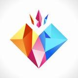 Diamantes coloridos fotografia de stock