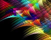Diamantes coloridos abstratos da bordadura do arco-íris do Fractal sobre Fotos de Stock Royalty Free