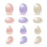 Diamantes coloridos joia da pérola Imagem de Stock