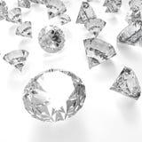 Diamantes 3d na composição como o conceito Fotografia de Stock