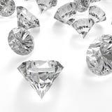 Diamantes 3d na composição como o conceito Imagens de Stock Royalty Free