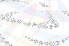 Diamantes da joia no fundo claro do teste padrão rendição 3d Fotografia de Stock
