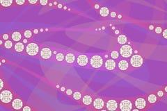 Diamantes da joia no fundo roxo do teste padrão rendição 3d Fotos de Stock Royalty Free