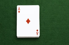 Diamantes de Ace dos cartões de jogo do bloco Imagens de Stock Royalty Free