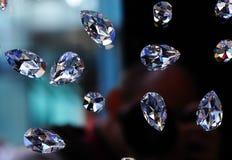 Diamantes de cristal Imágenes de archivo libres de regalías