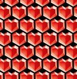 Diamantes de la tarjeta del día de San Valentín Fotografía de archivo libre de regalías