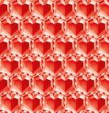 Diamantes de la tarjeta del día de San Valentín Fotos de archivo libres de regalías