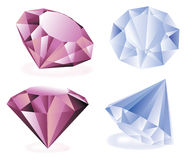Diamantes del vector Fotos de archivo