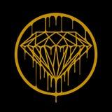 Diamantes derretidos Foto de archivo libre de regalías
