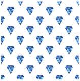 Diamantes do vetor Teste padrão sem emenda abstrato Fotografia de Stock Royalty Free