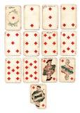 Diamantes dos cartões de jogo de Ancien Imagens de Stock