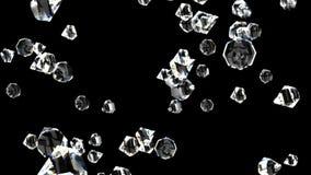 Diamantes em capaz preto de dar laços ilustração stock