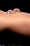 Diamantes em um estômago dos womans Fotos de Stock