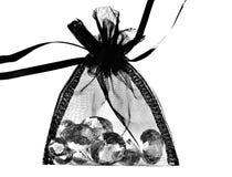Diamantes en bolso Foto de archivo libre de regalías