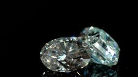 Diamantes en el fondo negro metrajes