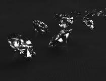 Diamantes en tela negra. ilustración del vector