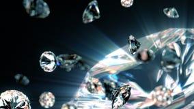 Diamantes lentamente que caen stock de ilustración