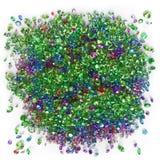 Diamantes multicolores en un fondo blanco Imagen de archivo