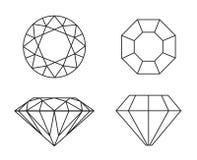 Diamantes no fundo branco Foto de Stock Royalty Free