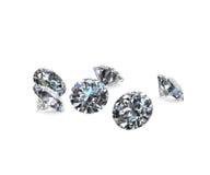 Diamantes no modelo 3d branco Imagem de Stock Royalty Free