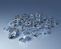 Diamantes numerosos Imagenes de archivo