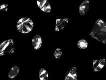Diamantes que caen ilustración del vector