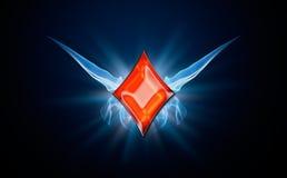 Diamantes, símbolo del póker Imágenes de archivo libres de regalías
