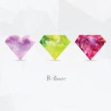 Diamantes Símbolos geométricos poligonales Imagenes de archivo