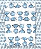 Diamantes - teste padrão sem emenda Fotos de Stock
