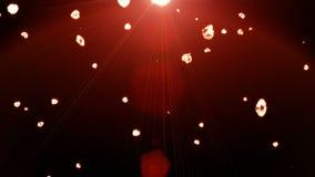 Diamantes vermelhos de queda, fundo bonito ilustração royalty free