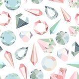 Diamantes y cristales Imagenes de archivo