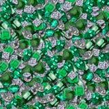 Diamantes y esmeraldas Imagen de archivo libre de regalías