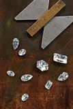 Diamantes y herramienta Fotografía de archivo
