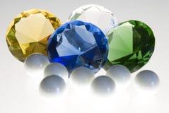 Diamantes y perlas Foto de archivo libre de regalías