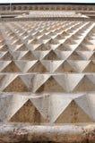 diamantferrara italy formad vägg Arkivbilder