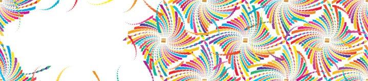 Diamantform mer färgrikt baner för diamant stock illustrationer