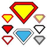 Diamantformer royaltyfri illustrationer