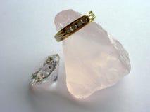 diamantguldsmycken Royaltyfria Foton